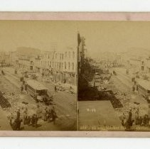 Image of 10th and Market Streets damage - Louisville Stereocard Collection