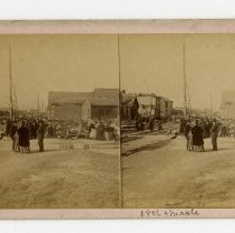 Image of 18th Street damage - Louisville Stereocard Collection