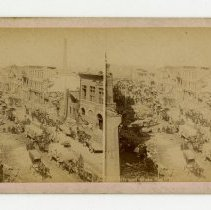 Image of 9th and Main Streets damage - Louisville Stereocard Collection