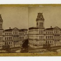 Image of City Hall, 6th and Jefferson Streets - Louisville Stereocard Collection