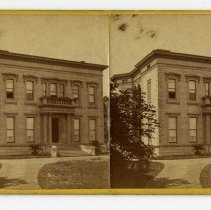Image of Residence of the H. D. Newcomb - Louisville Stereocard Collection