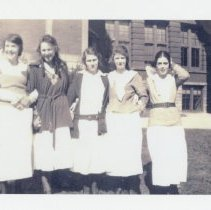 Image of Louisville Girls High School students                                                                                                                                                                                                                          - Clara Gibson Photograph Collection