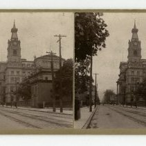 Image of Post Office and Customs House - Louisville and Indiana Views Stereocard Collection
