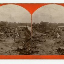 Image of Work at the below the Fall of the Ohio River - Louisville and Indiana Views Stereocard Collection