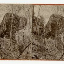 Image of Anvil Rock near Fern Grove - Louisville and Indiana Views Stereocard Collection