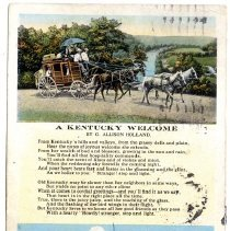 Image of A Kentucky Welcome                                                                                                                                                                                                                                             - Postcard Collection
