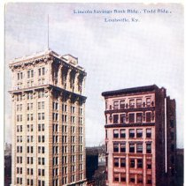 Image of Lincoln Savings Bank Building & Todd Building                                                                                                                                                                                                                  - Postcard Collection