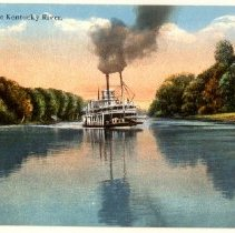 "Image of ""Scene on the Kentucky River""                                                                                                                                                                                                                                  - Postcard Collection"