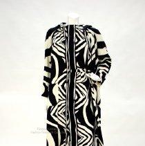 Image of Black and white cotton dress ensemble