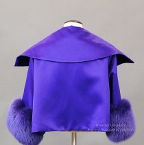 Image of Adrienne Landau purple satin evening coat - 2009.01.248