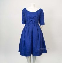 Dior blue brocade dress