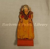 Image of 2013.009.001 - Snow White Stand-up Rubber Toy Figure