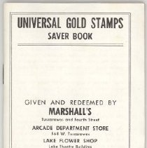 Image of 2013.024.001 - Universal Gold Stamps Saver Book