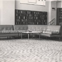 Image of 2014.024.026 - Barberton Public Library Lounge in the 1970's