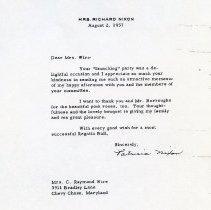 Image of Mrs. Nixon Letter (1000.105.03c)