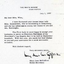 Image of White House Letter (1000.105.03d)