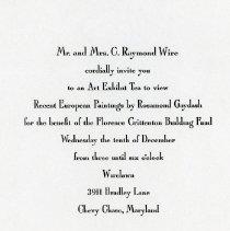 Image of Invitation to Art Exhibit Tea (1000.105.03h)