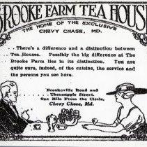 Image of Brooke Farm Tea House Advertisement (1000.108.01b)