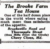 Image of Brooke Farm Tea House Advertisement (1000.108.01c)