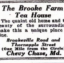 Image of Brooke Farm Tea House Advertisement (1000.108.01d)
