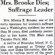 Image of Minnie Brooke Obituary (1000.108.01e)