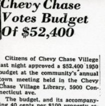 Image of Chevy Chase Votes Budget (1000.112.01i)