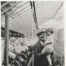 Image of Bernhard in his greenhouse (1994.01.07)