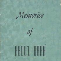Image of 1987.28.06 - Memories of Abdu'l - Baha