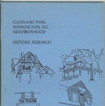 Image of 1987.31.02 - Cleveland Park: Washington, DC Neighborhood, Historic Research