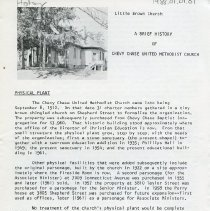 Image of 1988.01.01.01 - A Brief History of Chevy Chase United Methodist Church