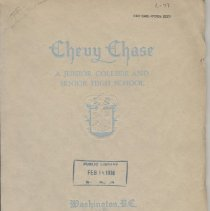 Image of 1991.09.13 - Chevy Chase Junior College and Senior High school 1939-40