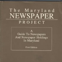 Image of 1991.14.01 - The Maryland Newspaper Project