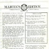 Image of 1995.02.02 - Martin's Additions Newsletters, 1980-1981