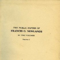 """Image of 1997.03.01 - """"The Public Papers of Francis G. Newlands"""""""