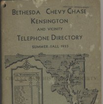 Image of 1998.06.01 - Bethesda Chevy Chase Kensington and Vicinity Telephone Directory
