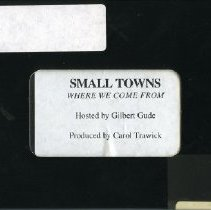 "Image of 1998.08.01 - ""Small Towns - Where We Come From"""