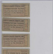 Image of 1999.01.02 - Tickets for Chevy Chase Coach Line