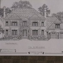 Image of 1999.03.07.04 - The Newlands: Front Elevation, Chevy Chase Park, Plan N-4