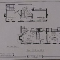 Image of 1999.03.07.13 - The Newlands: Front Elevation, Chevy Chase Park, Optional Terrace Level Plan
