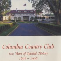 "Image of 2001.05.01 - ""Columbia County Club: 100 Years of Spirited History 1898-1998"""