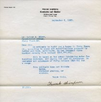 Image of 2003.07.03.04 - Letter from Frank Simpson to Arthur McK. Eiker