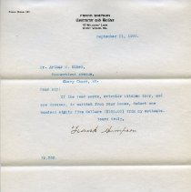 Image of 2003.07.03.09 - Letter from Frank Simpson to Arthur McK. Eiker