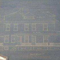 Image of 2003.07.12.02 - Blueprints for James M. Eiker, South Elevation