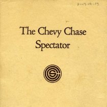 Image of 2003.19.03 - The Chevy Chase Spector, 1922