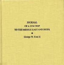 Image of 2005.01.01 - Journal of a 1954 Trip to the Middle East and India