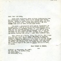 Image of 2005.13.12 - William H. Snape Correspondence: Caldwell C. McCormick