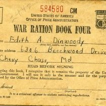 Image of 2005.17.03 - War Ration Book