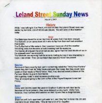 Image of 2005.47.01 - Leland Street Sunday News, 1973-2003