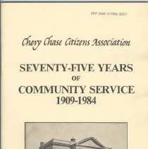 Image of 2006.19.03 - Seventy-Five Years of Community Service, 1909-1984