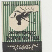 Image of 2006.37.11 - Brook Farm matchbook cover